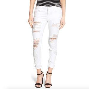 Vigoss The Thompson Tomboy white distressed jeans